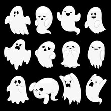 Ghost Character Vector Charact...