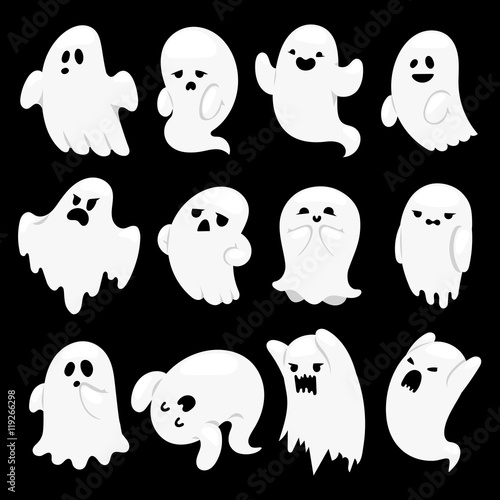 Photo  Ghost character vector characters.