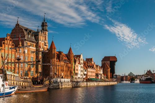 Danzig – Hafen mit Krantor; Polen