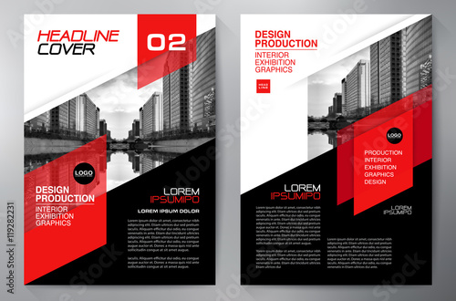 Stampa su Tela Business brochure flyer design a4 template.