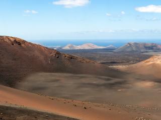 Fototapeta na wymiar Timanfaya National Park in Lanzarote, Canary Islands, Spain