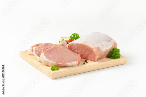 Photo  boneless pork loin chops