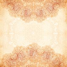 Ornate Vintage Background In M...