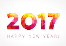 2017 Happy New Year Red Card. ...