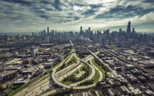 City Of Chicago Aerial View. T...
