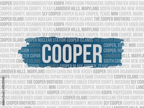 Canvas Print cooper