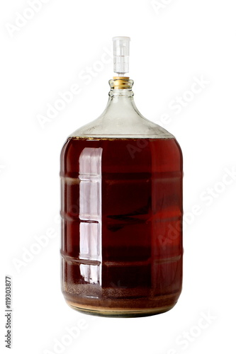 Carboy of Fermenting Homebrew Beer Canvas-taulu
