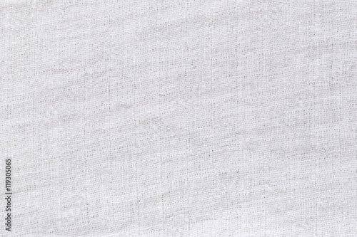 Tuinposter Stof Texture of white raw fabric for the background design.