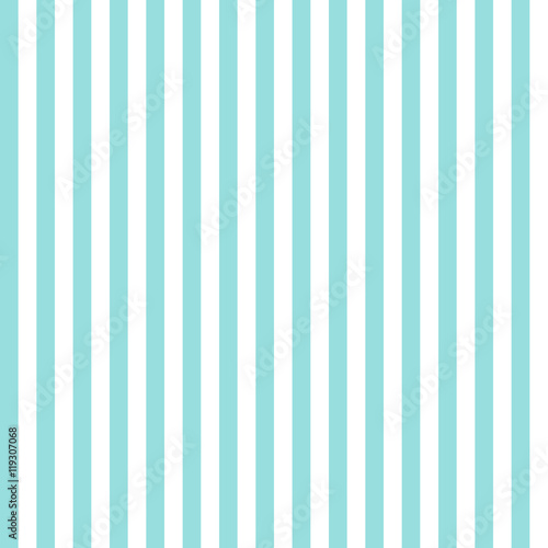 Fotografie, Obraz  Stripe pattern seamless green aqua and white colors