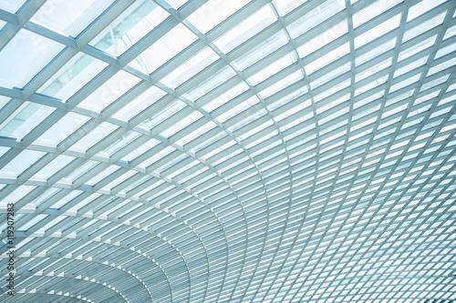 building construction of metal steel framework Wallpaper Mural