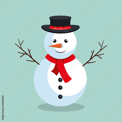 Photo  snowman christmas character icon