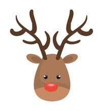 Reindeer Christmas Character Icon