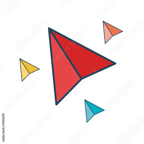 Fototapeta paper plane isolated icon obraz na płótnie