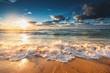 Beautiful sunrise over the sea