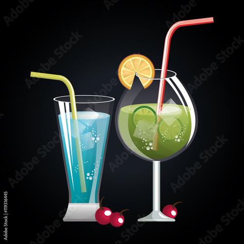 menu cocktails list bar vector illustration design - 119316445