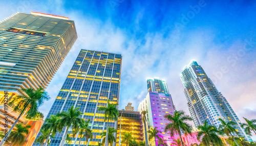Fotografía  Downtown Miami at sunset, Florida