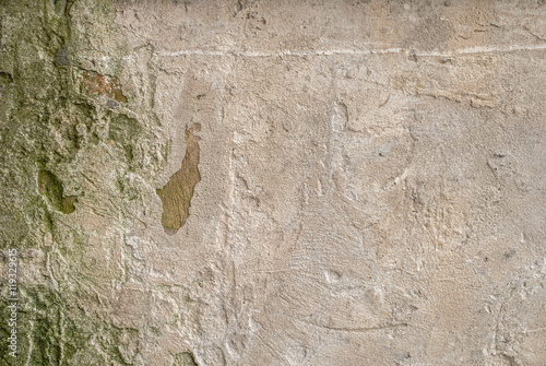 Deurstickers Oude vuile getextureerde muur old plastered wall, abstract concrete, weathered with cracks and scratches, landscape style, grunge concrete surface, great background or texture
