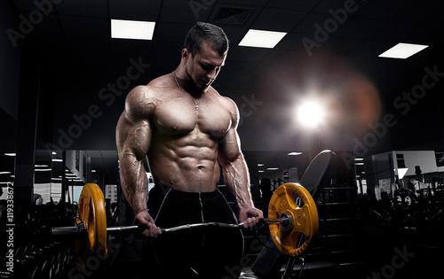 Fotografie, Obraz  Muscular athletic bodybuilder