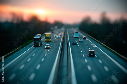 Fotografie, Tablou Traffic on highway