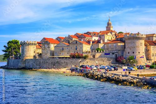 Obraz na plátně Korcula old town, Dalmatia, Croatia