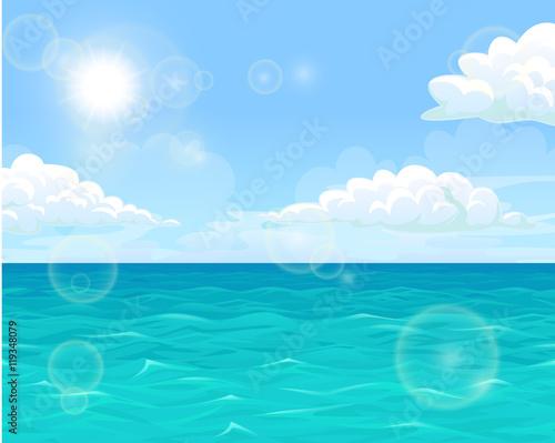 Spoed Foto op Canvas Turkoois Sea and sun landscape horizontal