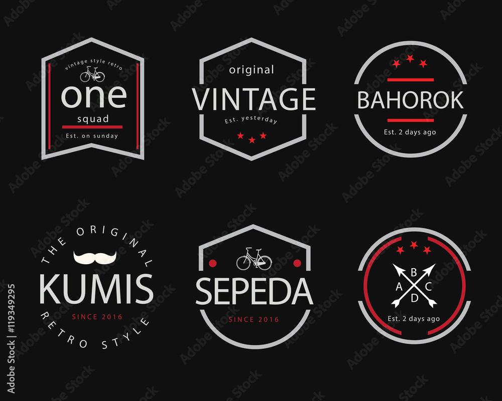 Fototapety, obrazy: vintage badge illustration design