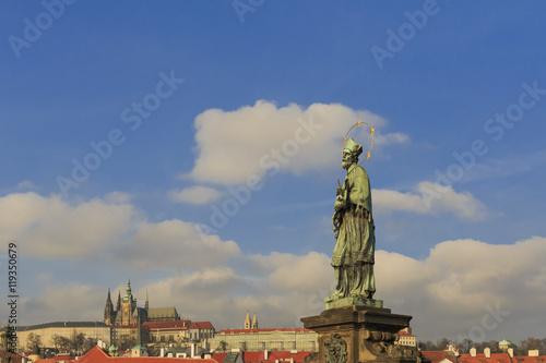 Photo  Prague st, Johanes statue czech