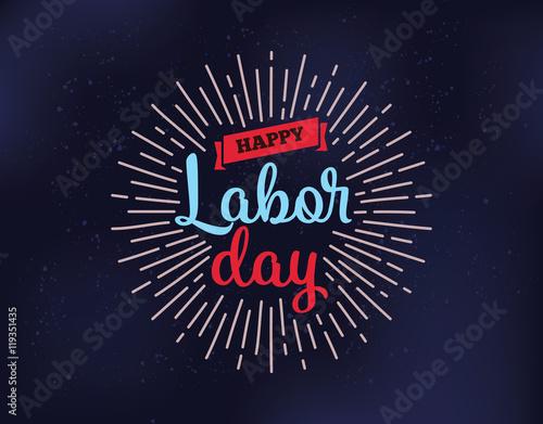 Valokuva Happy Labor day emblems