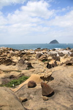 Heping Island (Peace Island) In Keelung, Taiwan  (View Of Bizarre Geological Rocks And Rock Formations)