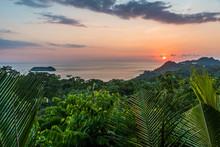 Sunset At Manuel Antonio, Costa Rica - Tropical Pacific Coast