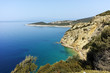 Seascape with blue waters in Thassos island, East Macedonia and Thrace, Greece