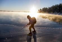 Man Long-distance Skating, Skeppsbron, Sweden