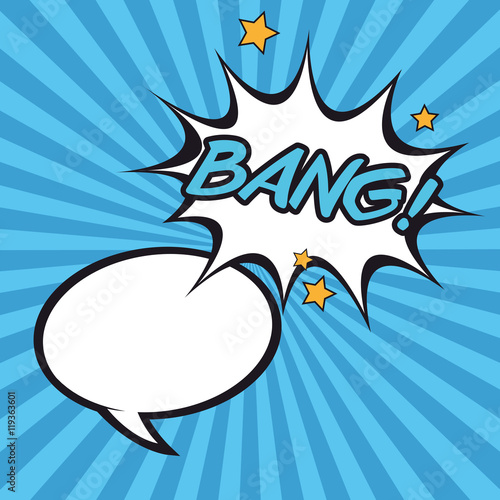 Photo  bubble bang pop art retro cartoon icon