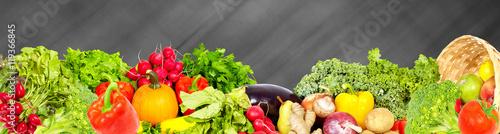 Staande foto Groenten Vegetables and fruits.