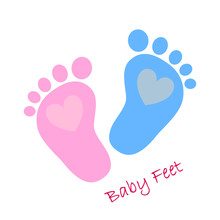 Baby Footprints - Vector Illus...