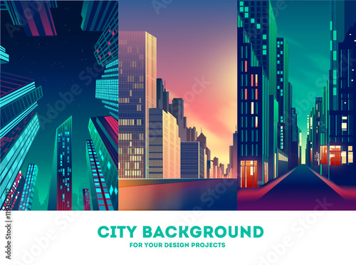 Vector cityscape background