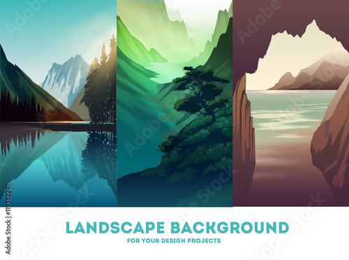 Printed kitchen splashbacks Beige Vector landscape background