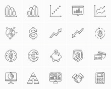 Business Sketch Icon Set.