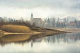 Zbiornik Sosnówka w mglisty poranek  - 119387479