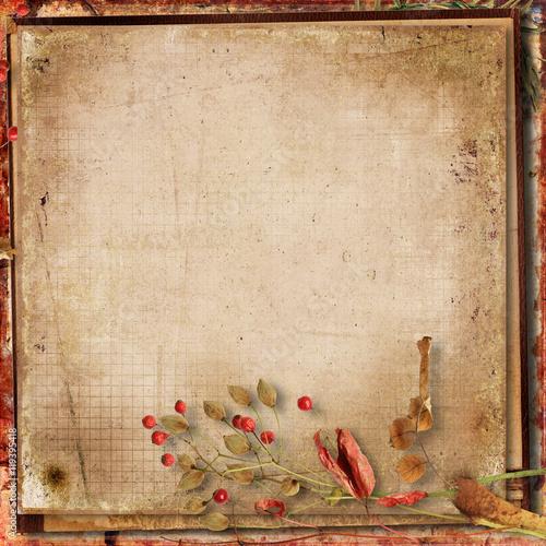 Poster Retro Grunge gorgeous autumn background