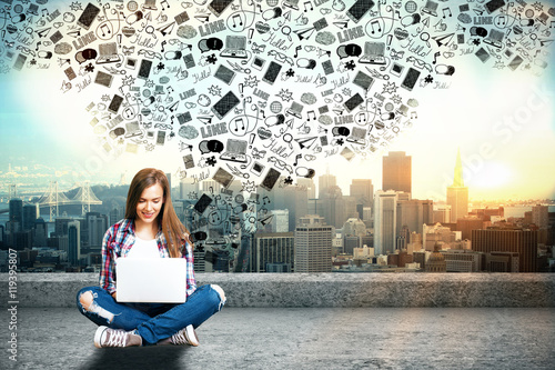 Fotografie, Obraz  Social networks concept