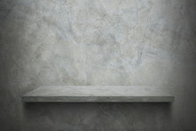 Cement Wall With Shelf For Pattern
