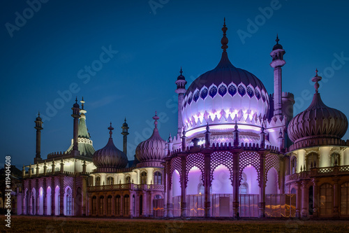 Recess Fitting Eastern Europe The Royal Pavilion at night is an exotic palace in the centre of Brighton. Built in 1823 for King George IV, is built in the style of Indo-Saracenic Revival architecture common in India and China.
