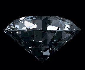 Obraz na SzkleDazzling, classic, photo realistic diamond isolated on black bac