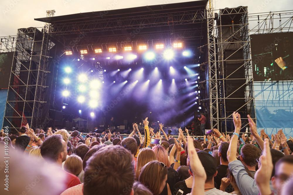 Fotografie, Obraz Crowd at a open air concert