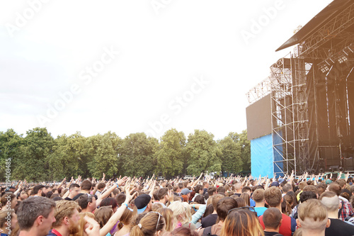 Fotografía  Crowd at a open air concert