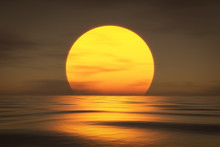 A Sunset Over The Sea