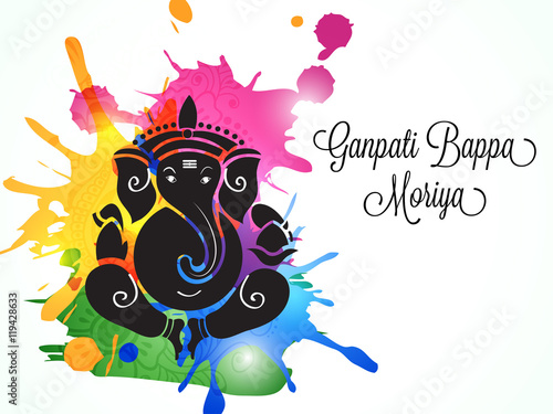 Ganesha chaturthi festival greeting card buy this stock ganesha chaturthi festival greeting card m4hsunfo