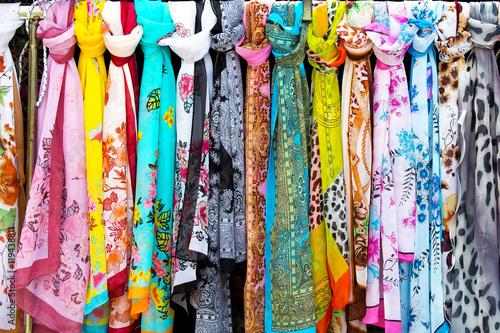 Fotografie, Obraz  Colorful silk scarves