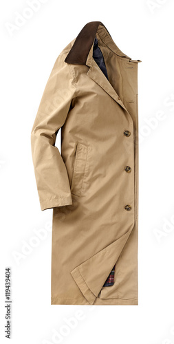 Fotografie, Obraz  mens overcoat isolated on white